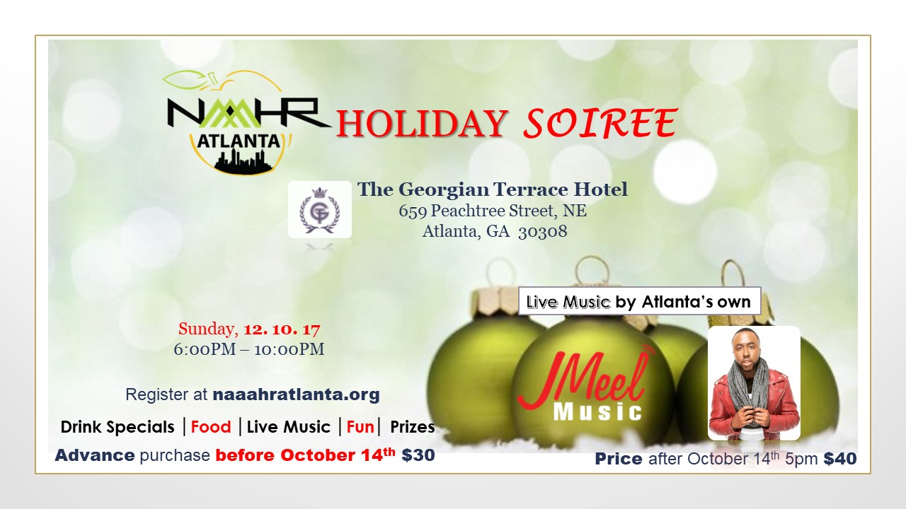 Temporary holiday soiree flyer